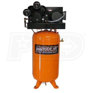 HULK 5-HP 80-Gallon Two-Stage Cast Iron Air Compressor (208/230V 1-Phase)