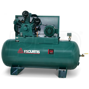FS-Curtis (CA10) 10-HP 120-Gallon Ultra Two-Stage Air Compressor (460V 3-Phase)