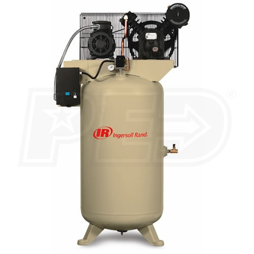 Ingersoll Rand 2475N7.5 Type 30 7.5-HP 80-Gallon Two-Stage Air Compressor  230V 1-PhaseAir Compressors Direct