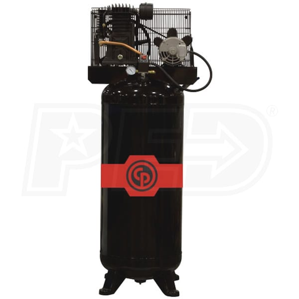 Chicago Pneumatic Rcp 561vns 5 Hp 60 Gallon Dual Voltage
